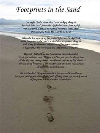 footprints in the sand prayer Quotes