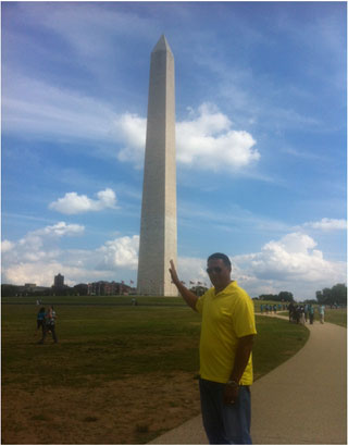 Ken at the Washington Monument
