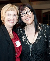 Calla Presents Custom Made NAWBO Necklace to Lynda Weinman, Founder of Lynda.com
