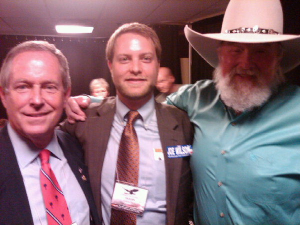 Rep. Joe Wilson, Dustin Olson backstage with Charlie Daniels at the National Rifle Association Convention