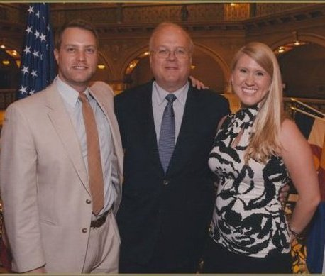 Dustin and Carolyn with Karl Rove