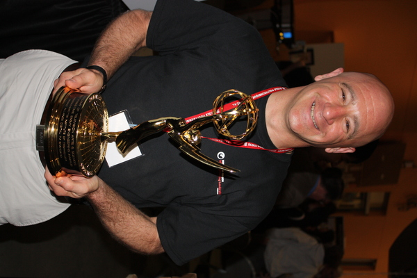 Bruce Mendelsohn with Emmy